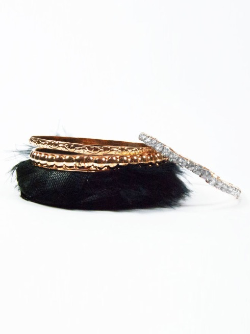 Perforated Butterfly & Fur Bracelet Pack